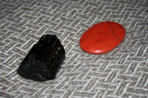 Black Tourmaline and Red Jasper